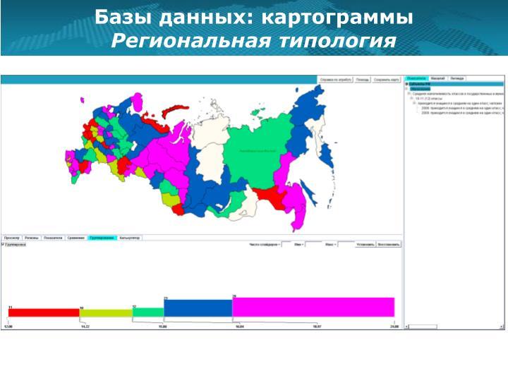 Базы данных: картограммы