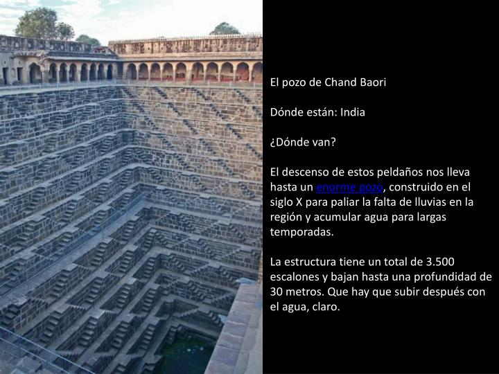 El pozo de Chand Baori