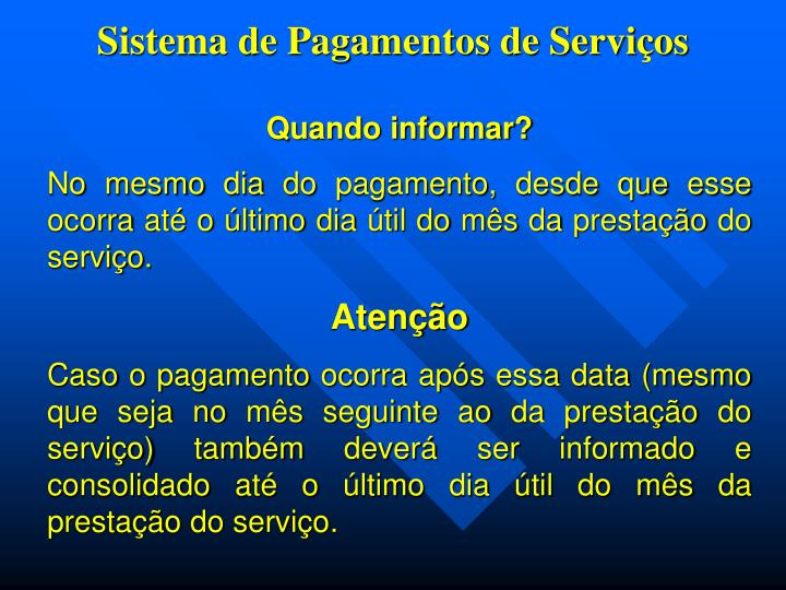 Sistema de Pagamentos de Serviços