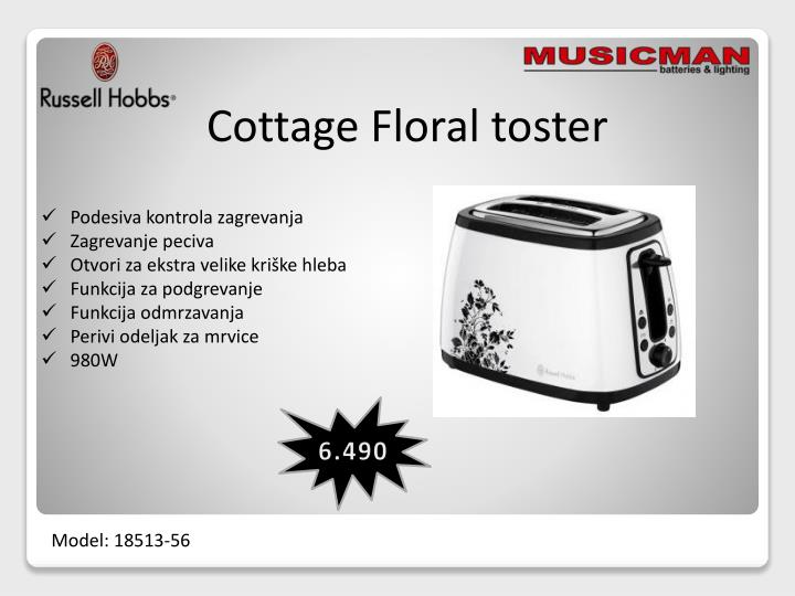 Cottage Floral toster