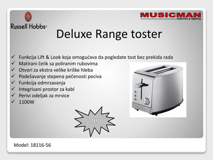 Deluxe Range toster