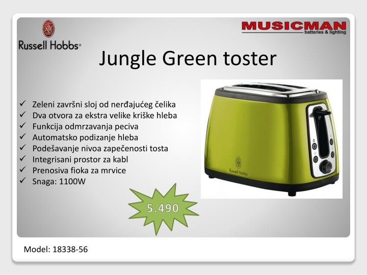 Jungle Green toster