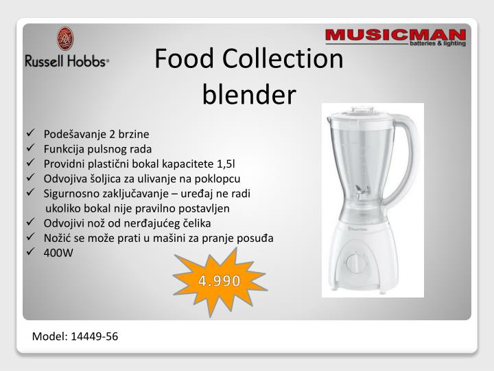 Food Collection blender