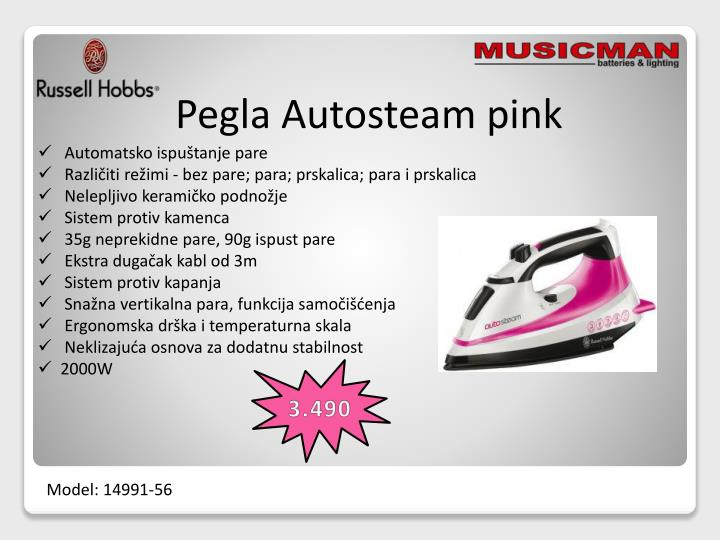Pegla Autosteam pink