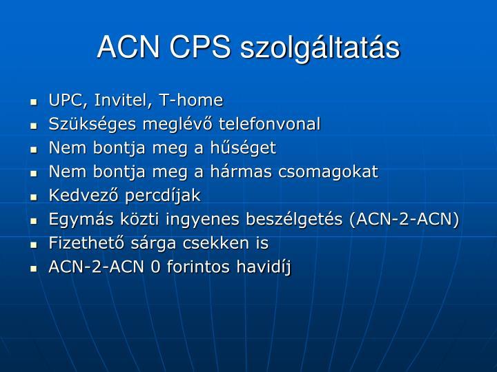 ACN CPS szolgáltatás