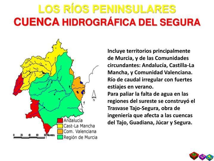 LOS RÍOS PENINSULARES
