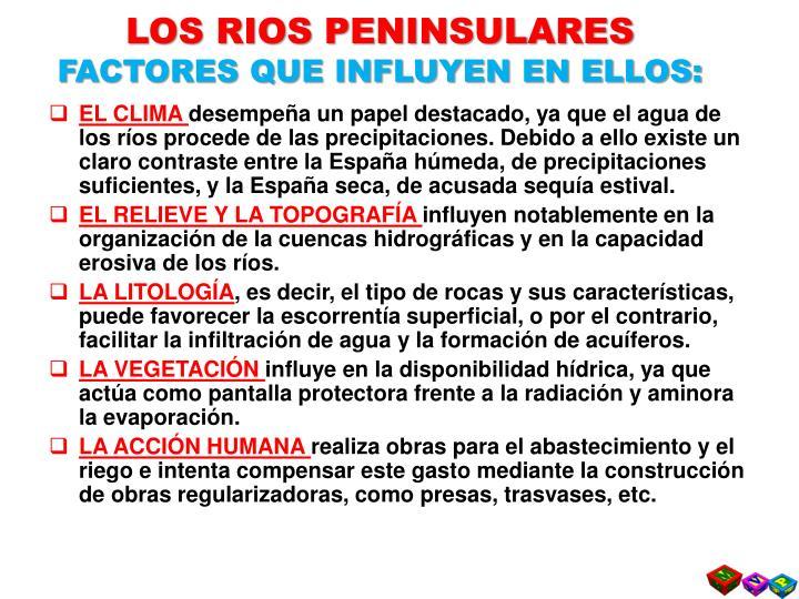 LOS RIOS PENINSULARES