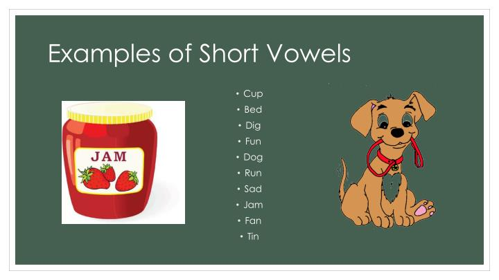 Examples of Short Vowels