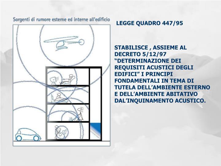 LEGGE QUADRO 447/95