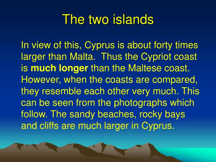 The two islands
