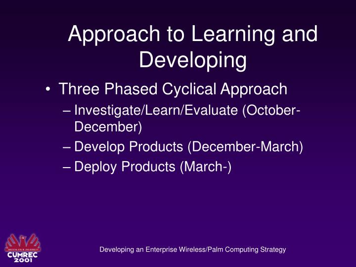 Approach to Learning and Developing
