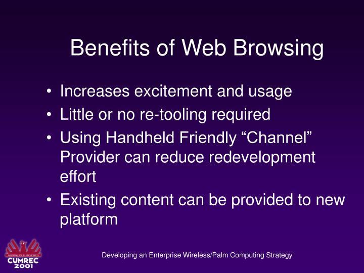 Benefits of Web Browsing