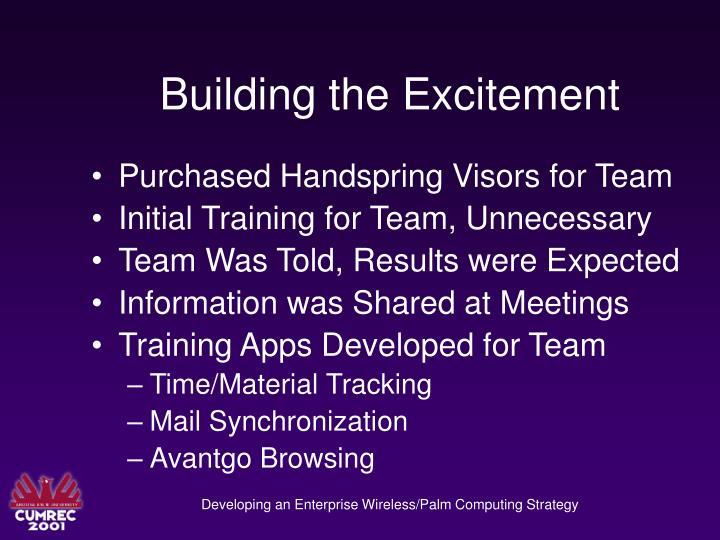 Purchased Handspring Visors for Team