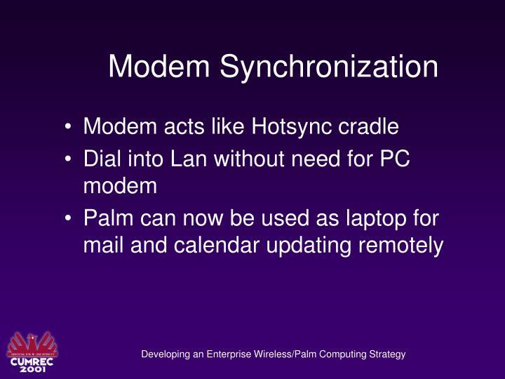 Modem Synchronization