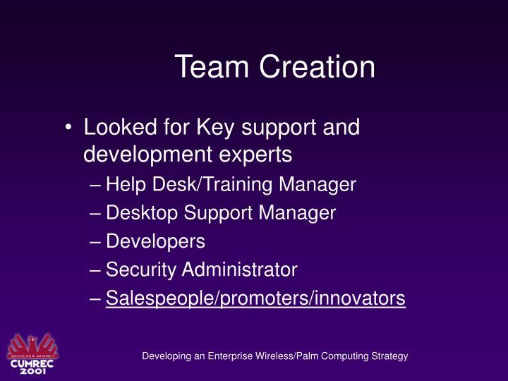 Team Creation
