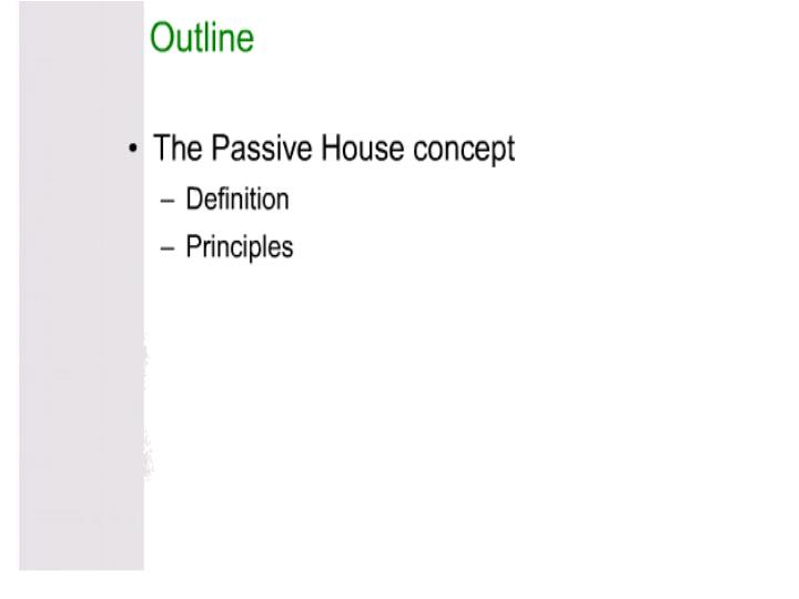 Passive house theory