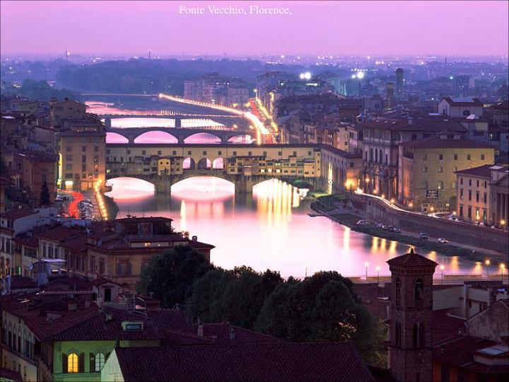 Ponte Vecchio, Florence,