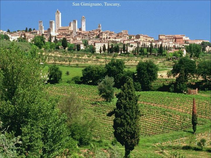 San Gimignano, Tuscany,