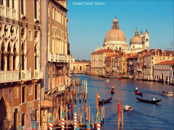 Grand Canal, Venice,