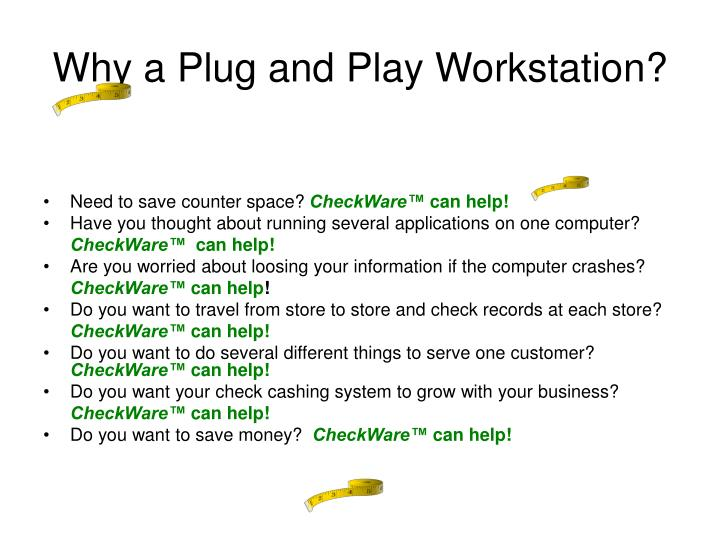 Why a Plug and Play Workstation?