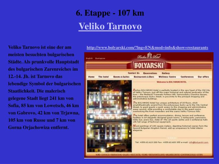 6. Etappe - 107 km