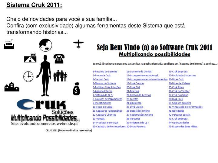 Sistema Cruk 2011: