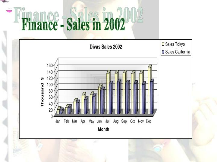 Finance - Sales in 2002