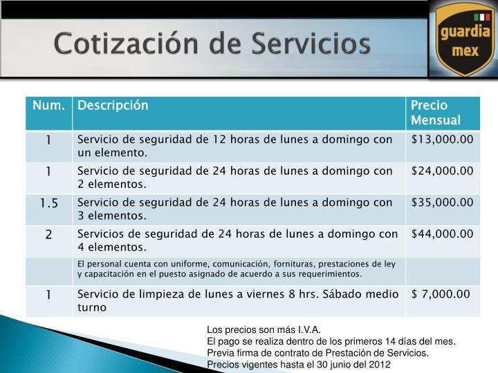Cotización de Servicios