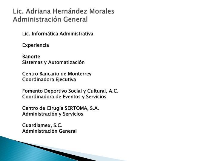 Lic. Adriana Hernández Morales