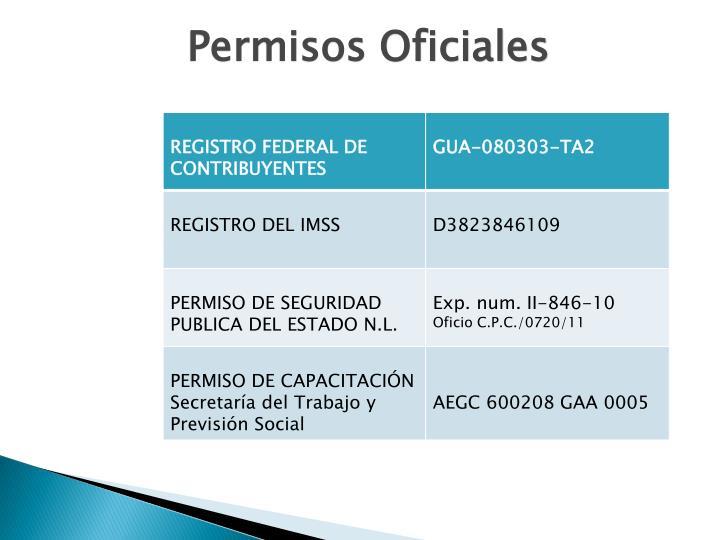 Permisos Oficiales