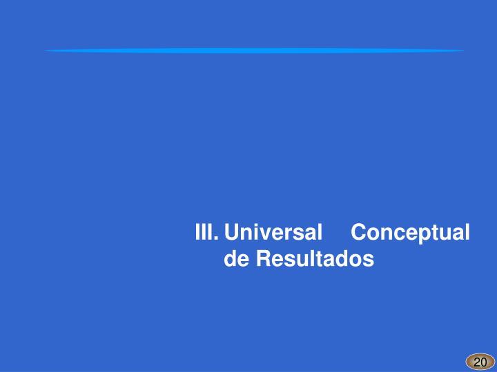 III.Universal Conceptual de Resultados