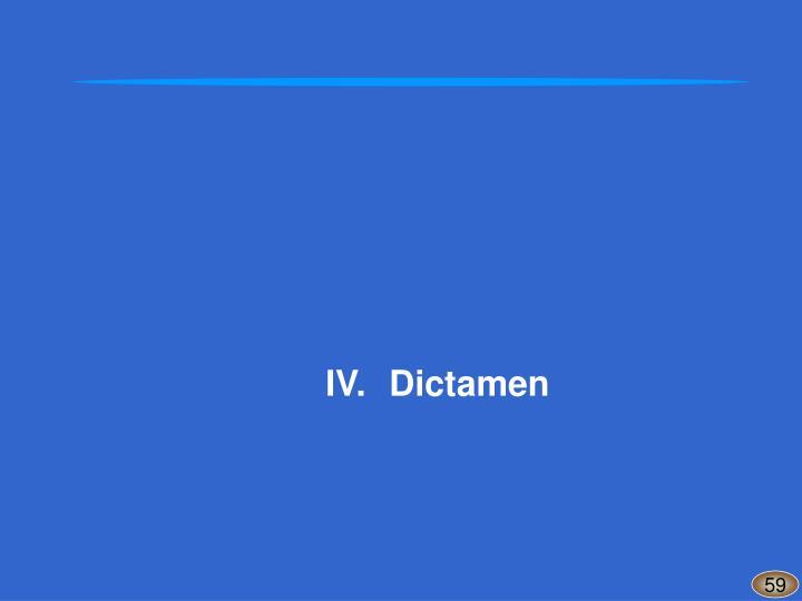 IV.Dictamen
