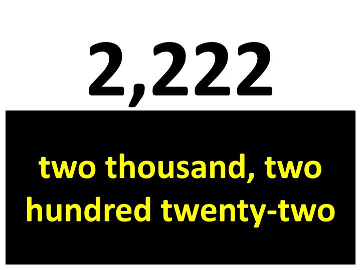 2,222