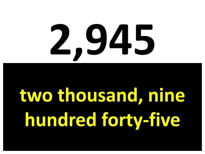 2,945