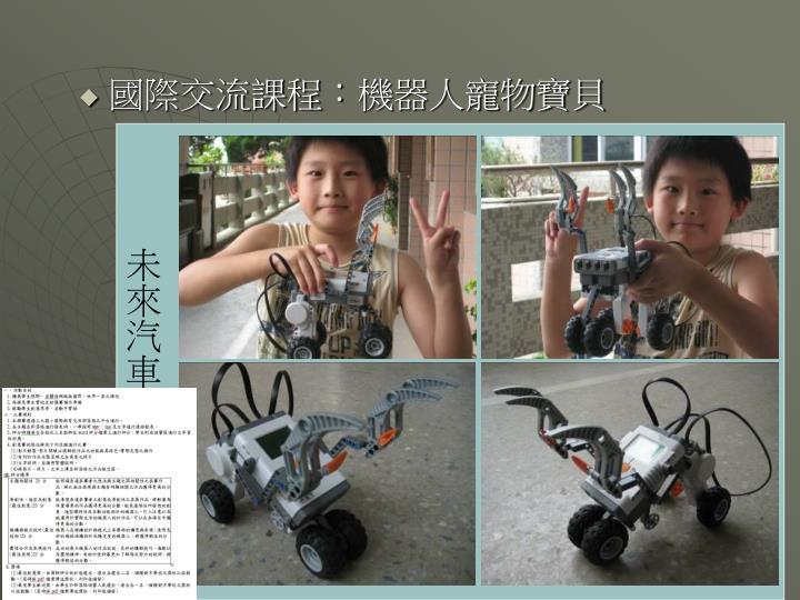 國際交流課程:機器人寵物寶貝