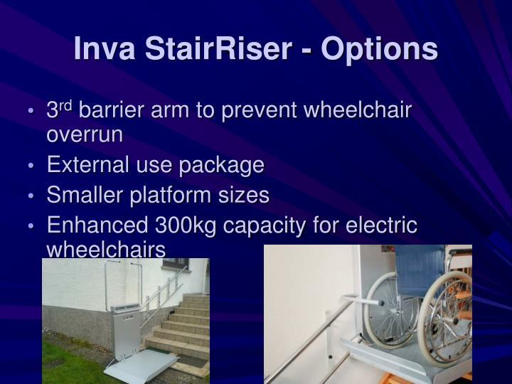 Inva StairRiser - Options