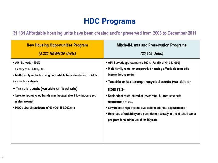 HDC Programs