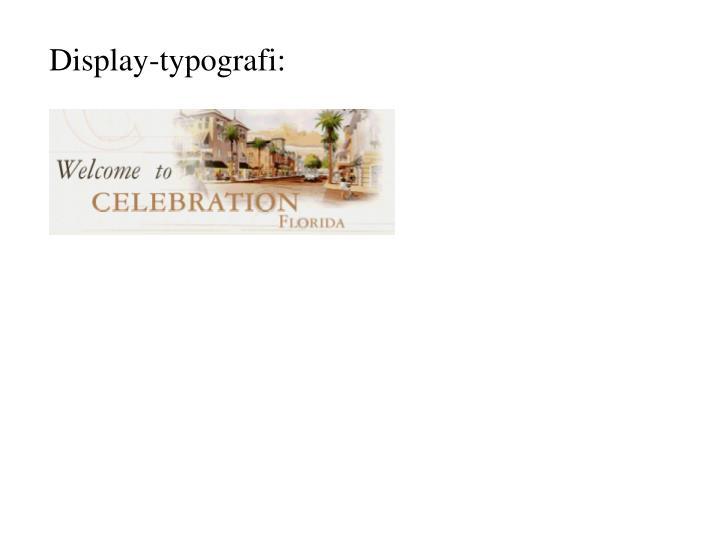 Display-typografi: