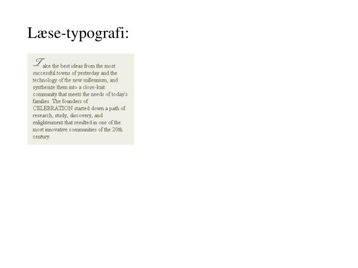 Læse-typografi: