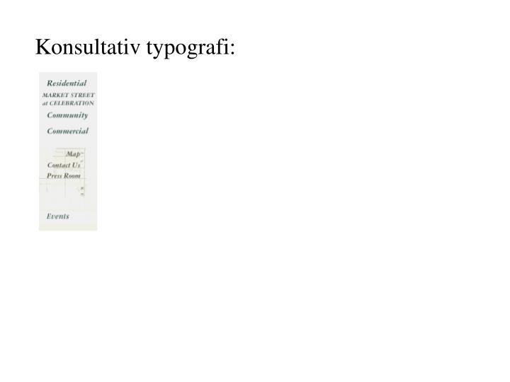 Konsultativ typografi: