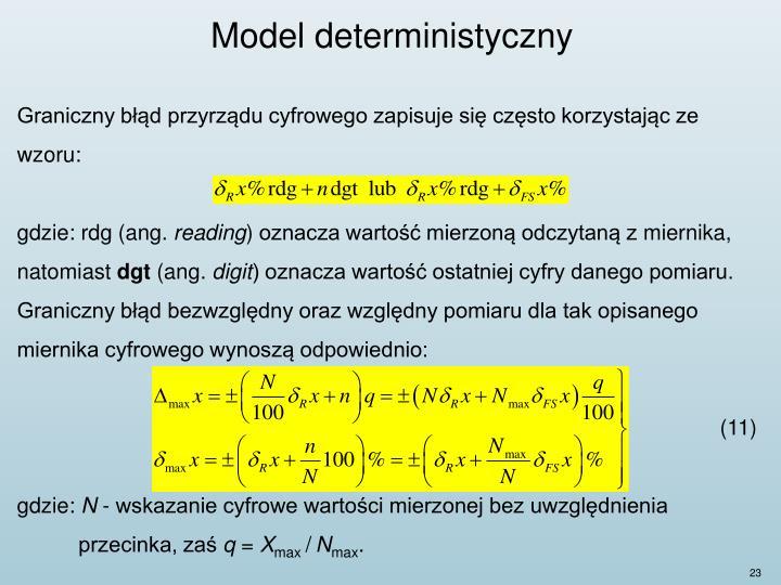 Model deterministyczny