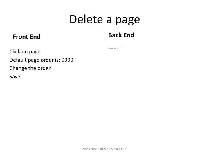 Delete a page