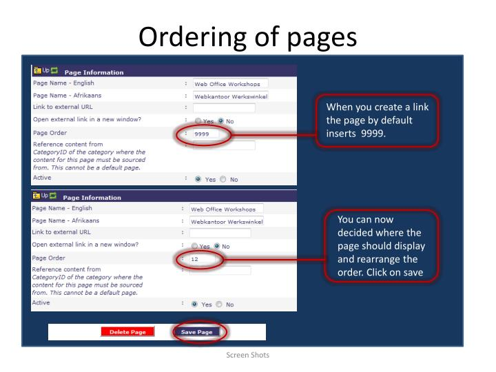 Ordering of pages1