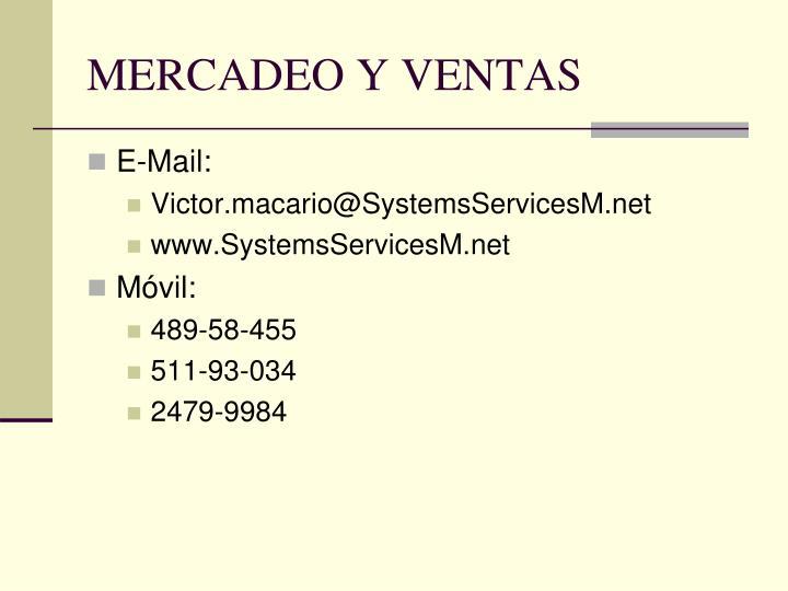 MERCADEO Y VENTAS