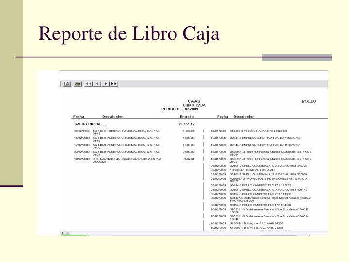 Reporte de Libro Caja