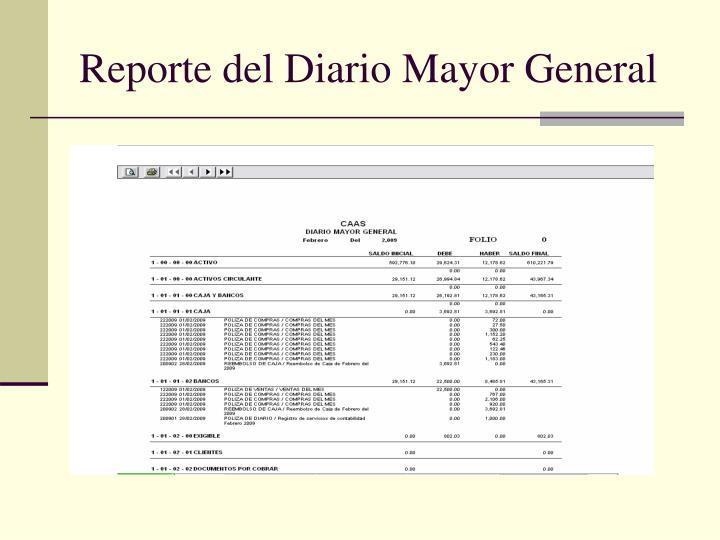 Reporte del Diario Mayor General