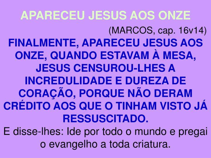 APARECEU JESUS AOS ONZE