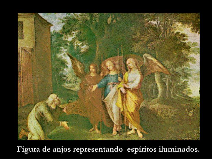 Figura de anjos representando  espíritos iluminados.