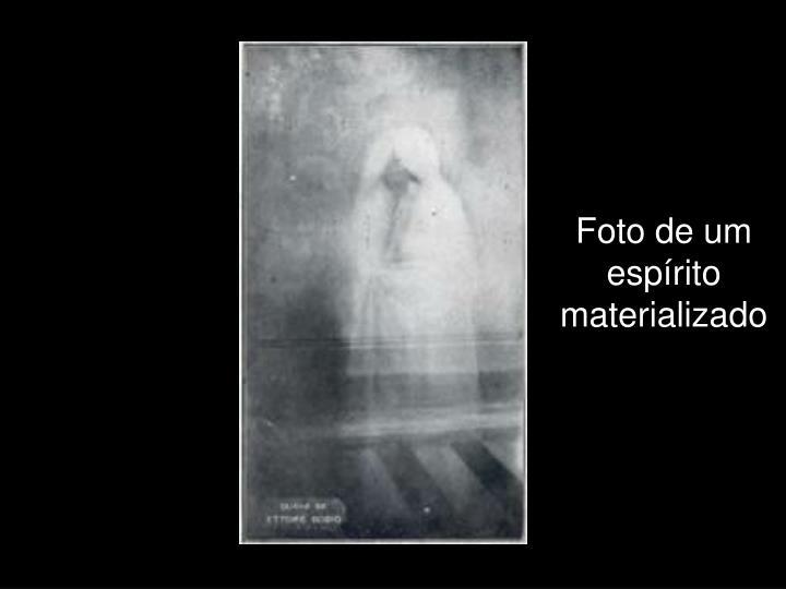 Foto de um espírito materializado