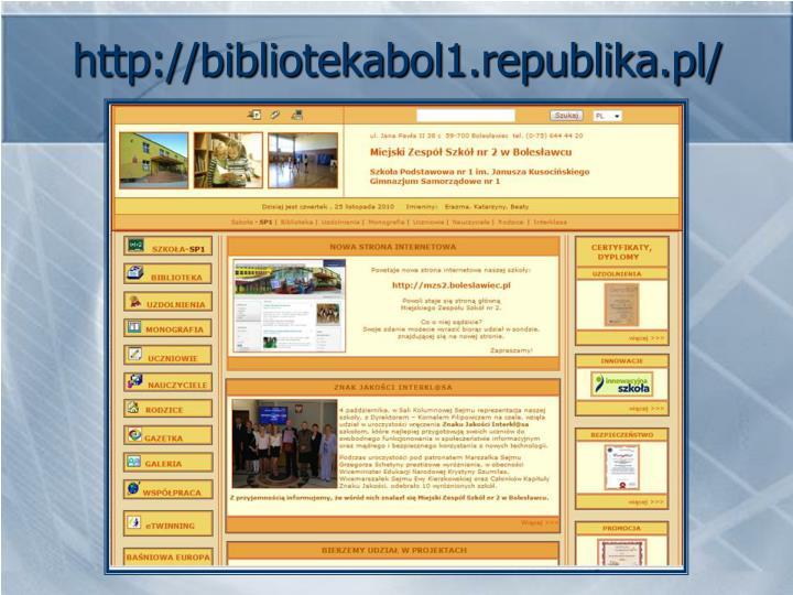 http://bibliotekabol1.republika.pl/